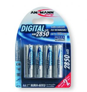 Ansmann 5035092 4x AA 2850mAh Rechargable Battery NiMH Digital